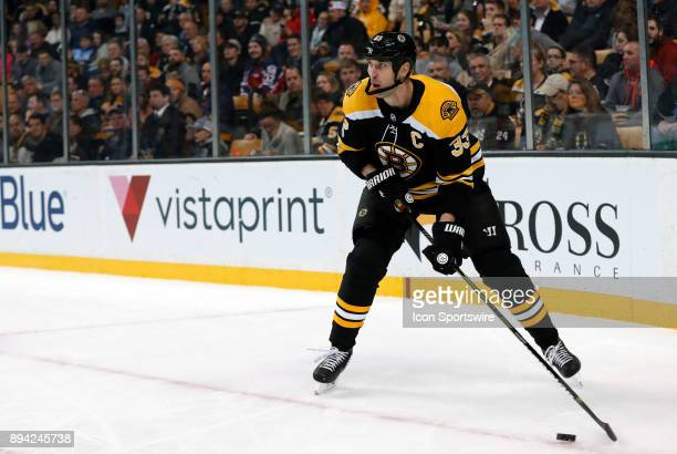Boston Bruins left defenseman Zdeno Chara looks up ice during a game between the Boston Bruins and the Washington Capitals on December 14 at TD...