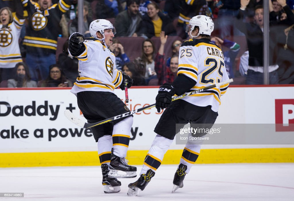 NHL: MAR 13 Bruins at Canucks : News Photo