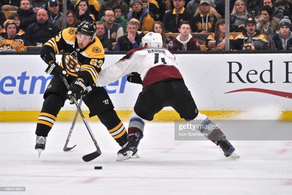 NHL: FEB 10 Avalanche at Bruins : News Photo