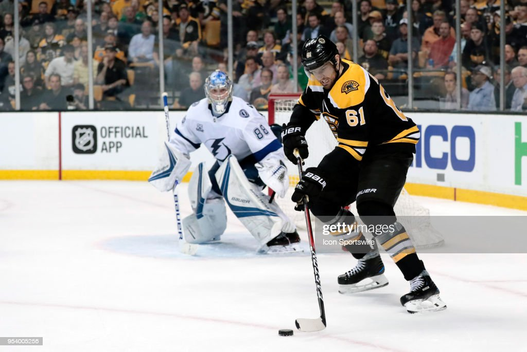 NHL: MAY 02 Stanley Cup Playoffs Second Round Game 3 - Lightning at Bruins : News Photo