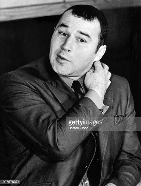 Boston Bruins Ted Green speaks during a press conference at the Boston Garden Nov 20 1969