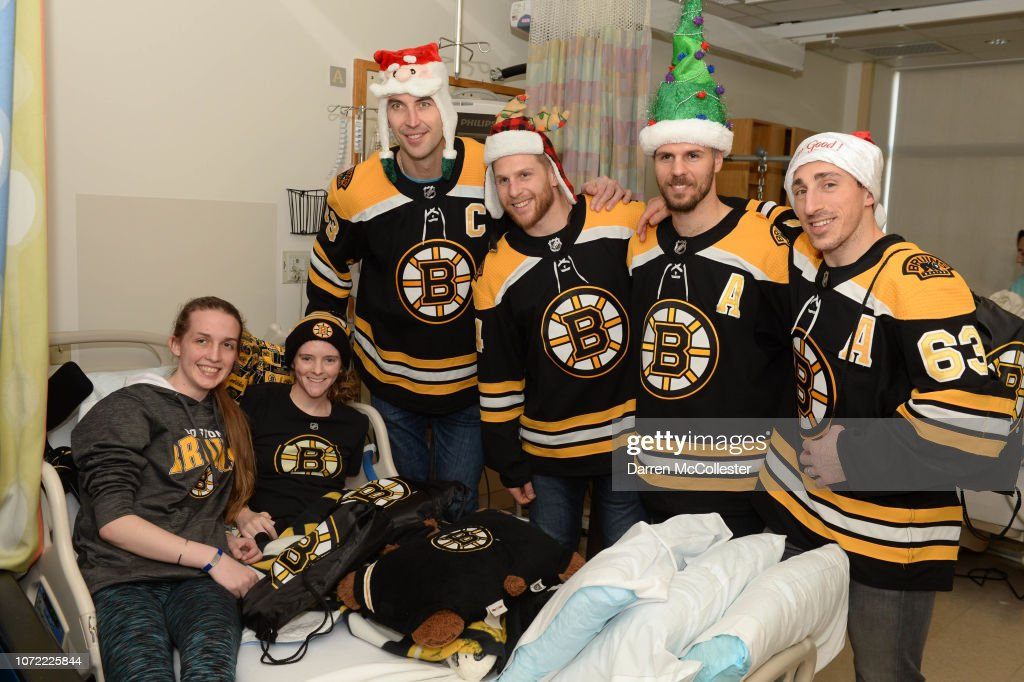 Boston Bruins Holiday Toy Drop For Patients At Boston Children's Hospital : News Photo
