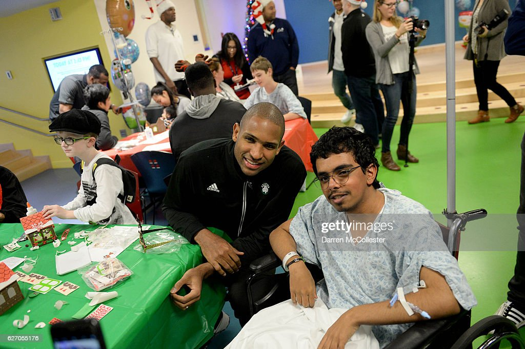 Celtics Visit Boston Children's Hospital for Crafting and Caroling with Patients : News Photo
