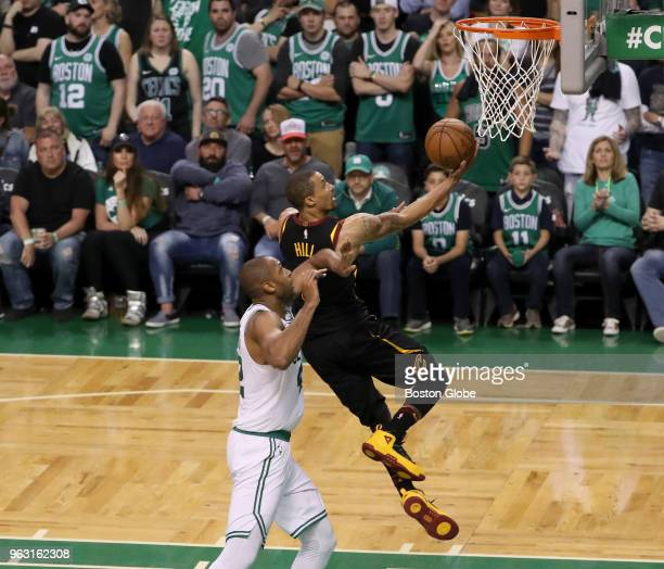 Boston Celtics Al Horford allows Cleveland Cavaliers George Hill a break away layup during fourth quarter action The Boston Celtics hosted the...