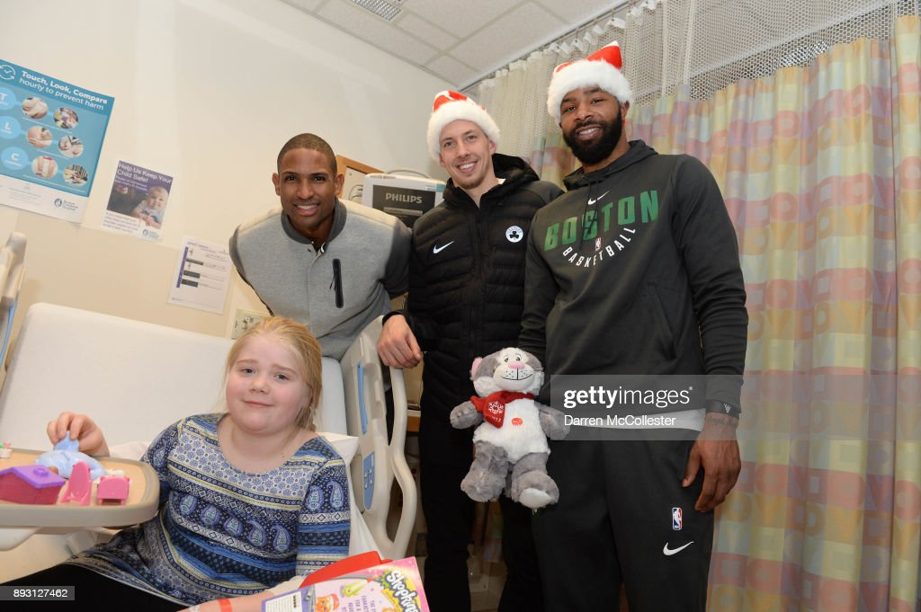 Boston Celtics Sing Holiday Favorites With Patients at Annual Boston Children's Hospital Holiday Visit