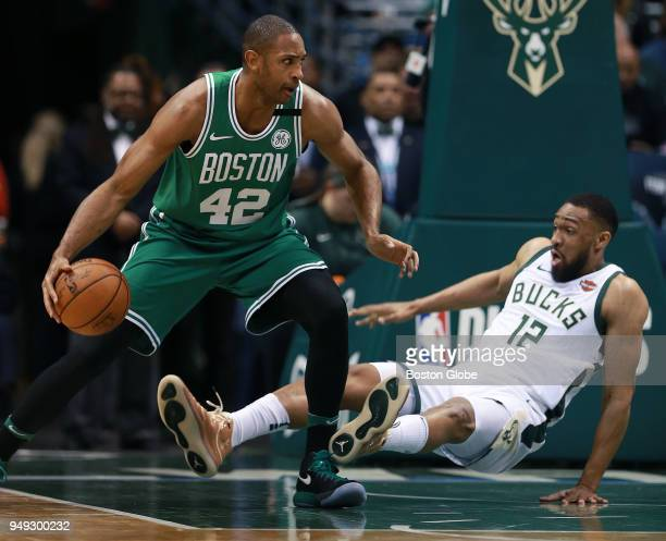 Boston Celtics' Al Horford is called for an offensive foul on this second quarter play against the Bucks' Jabari Parker The Boston Celtics visit the...