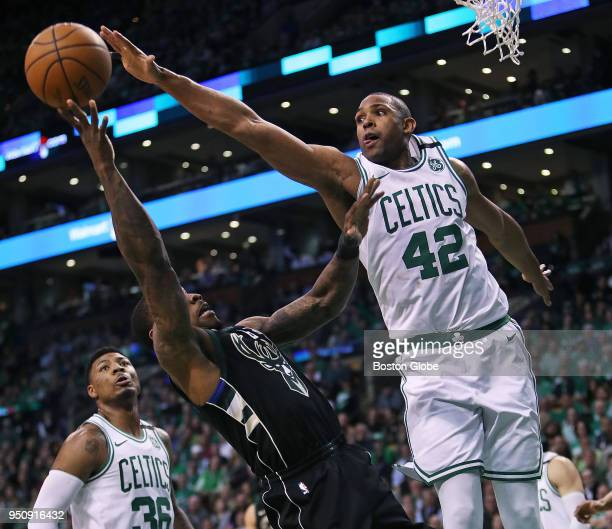 Boston Celtics' Al Horford tries to block a second half shot by the Bucks' Eric Bledsoe The Boston Celtics host the Milwaukee Bucks in Game Five of...