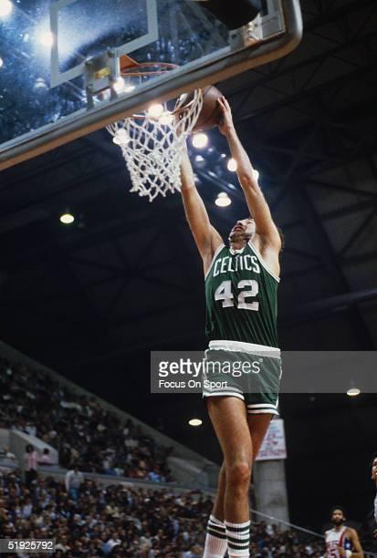 Boston Celtics' Chris Ford dunks against the New York Nets at Rutgers Athletic Center circa 1979 in Piscataway, New Jersey.
