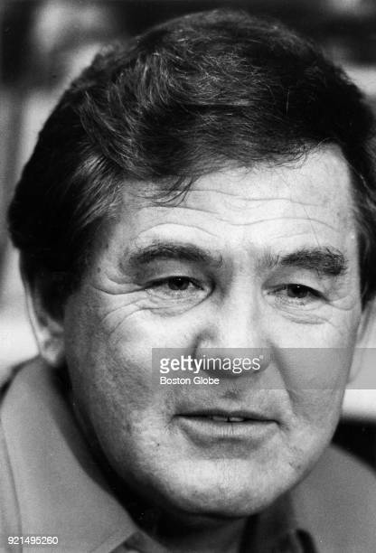 Boston Celtics coach Bill Fitch resigns from his position during a press conference in Boston May 27 1983