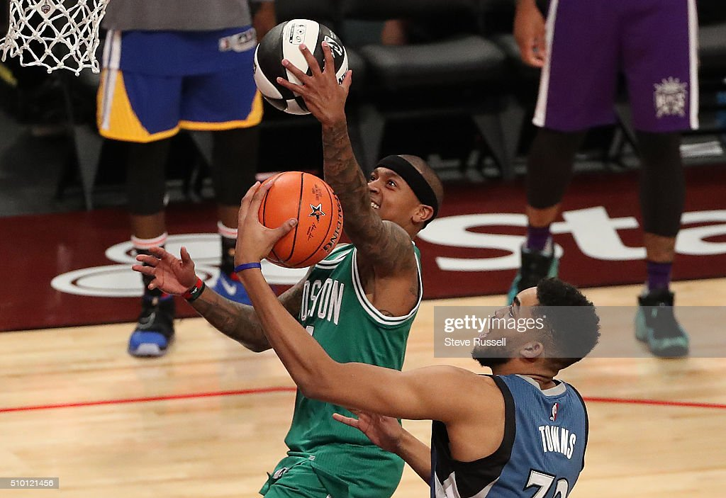 NBA's All-Star Saturday Night. Where players compete in three events, the Skills Challenge, 3-point shooting and Slam Dunk : News Photo