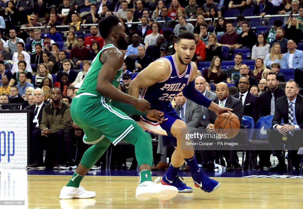 Philadelphia 76ers vs Boston Celtics - NBA London Game 2018 - O2 Arena : News Photo