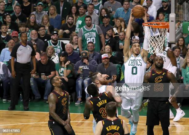 Boston Celtics Jayson Tatum scores two points The Boston Celtics hosted the Cleveland Cavaliers for Game Seven of their NBA Eastern Conference Finals...