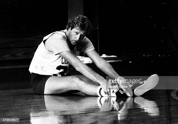 Boston Celtics player Larry Bird Oct 3 1983