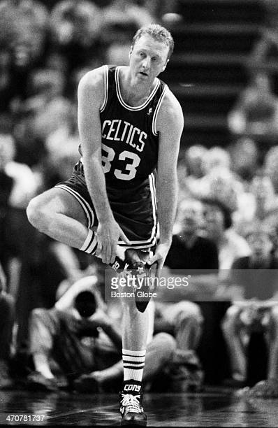 Boston Celtics player Larry Bird's last game played against the Cleveland Cavaliers on May 17 1992