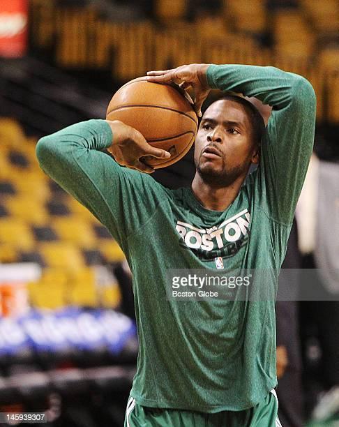 Boston Celtics point guard Keyon Dooling during pregame warmups Boston Celtics NBA basketball action and reaction The Celtics play the Miami Heat in...