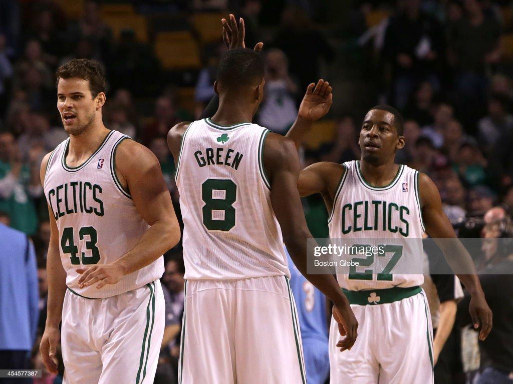 check out 077a8 bc4b4 Boston Celtics shooting guard Jeff Green congratulates ...