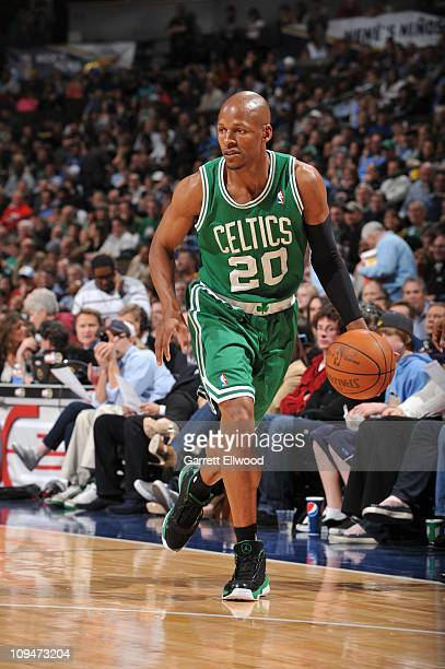 Boston Celtics shooting guard Ray Allen drives to the basket during the game against the Denver Nuggets on February 24 2011 at the Pepsi Center in...