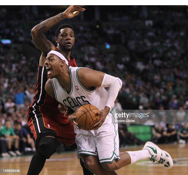 Boston Celtics small forward Paul Pierce drives to the basket in the second quarter Boston Celtics NBA basketball action and reaction The Celtics...