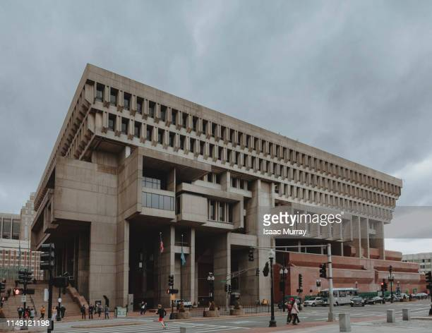 boston city hall brutalism architecture - town hall government building stock pictures, royalty-free photos & images
