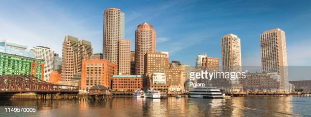 boston city panorama skyline massachusetts usa - boston stock pictures, royalty-free photos & images