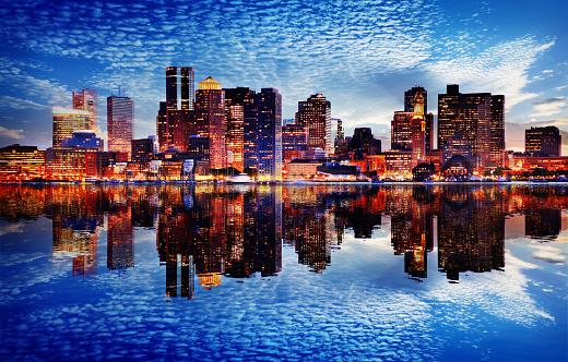 Boston City Sunset 1157923959