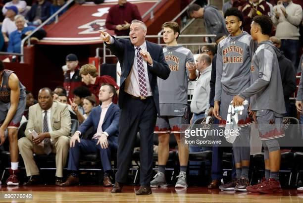 Boston College assistant coach Bill Wuczynski directs a player during a game between the Boston College Eagles and the Duke University Blue Devils on...