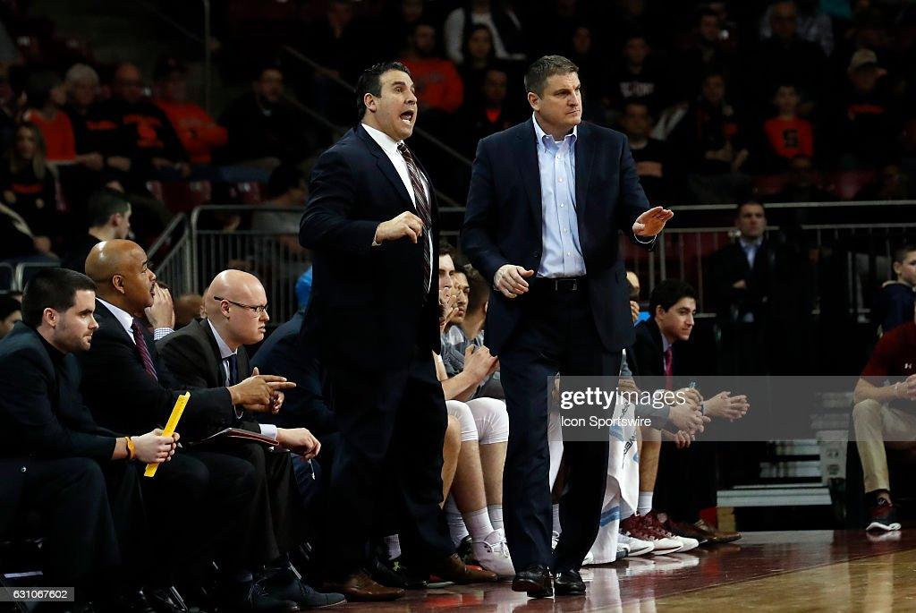 Boston College Assistant Coach Scott Spinelli Yells