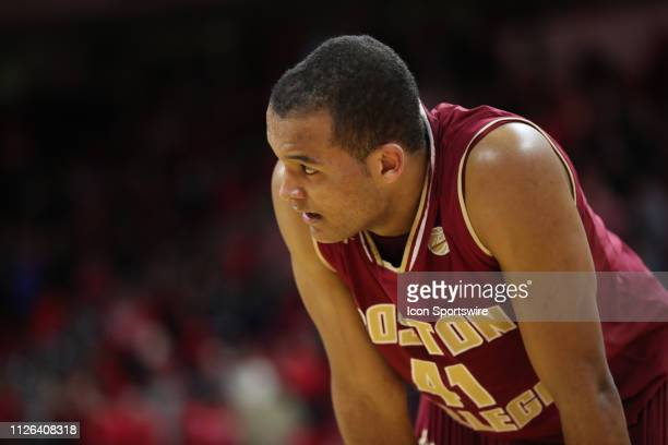 Boston College Eagles forward Steffon Mitchell during the 2nd half of the NC State Wolfpack game versus the Boston College Eagles on February 20th at...