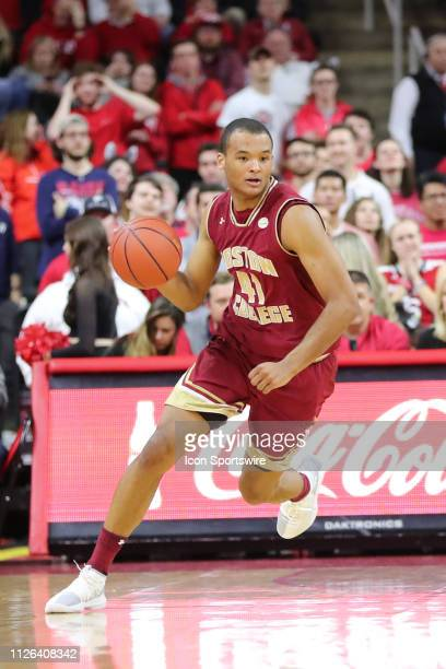 Boston College Eagles forward Steffon Mitchell with the ball during the 2nd half of the NC State Wolfpack game versus the Boston College Eagles on...