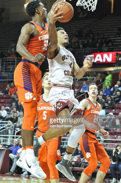 Boston College Eagles guard Jerome Robinson scored 2 of his 28 points on the night with this play During the Boston College Eagles game against the...