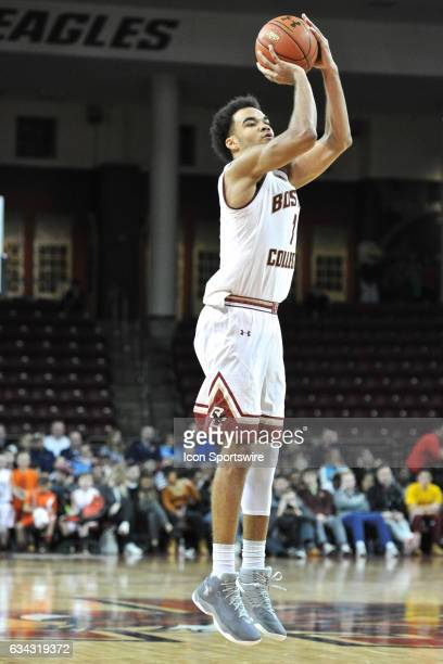 Boston College Eagles guard Jerome Robinson scores a three pointer he was 25 on the night During the Boston College Eagles game against the...