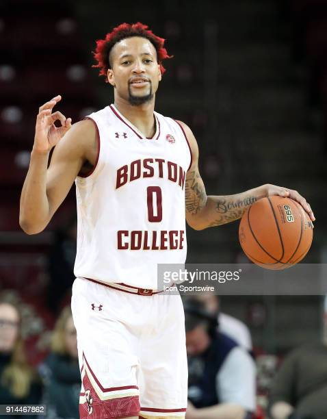 Boston College Eagles guard Ky Bowman during a college basketball game between Georgia Tech Yellow Jackets and Boston College Eagles on February 4 at...