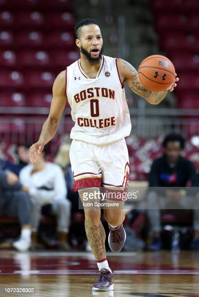 Boston College Eagles guard Ky Bowman in action during a college basketball game between Columbia Lions and Boston College Eagles on December 12 at...
