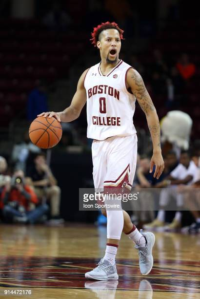 Boston College Eagles guard Ky Bowman in action during a college basketball game between Georgia Tech Yellow Jackets and Boston College Eagles on...