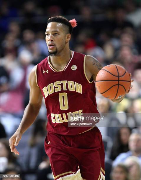 Boston College Eagles guard Ky Bowman with the ball during a college basketball game between Boston College Eagles and Providence Friars on November...