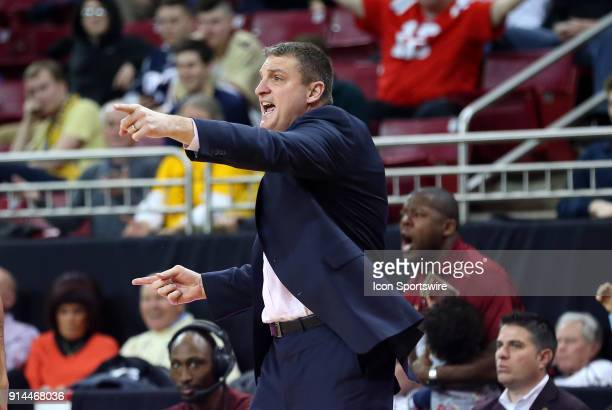 Boston College Eagles head coach Jim Christian reacts during a college basketball game between Georgia Tech Yellow Jackets and Boston College Eagles...