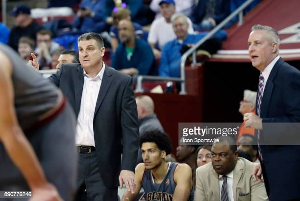 Boston College head coach Jim Christian and Boston College assistant coach Bill Wuczynski during a game between the Boston College Eagles and the...