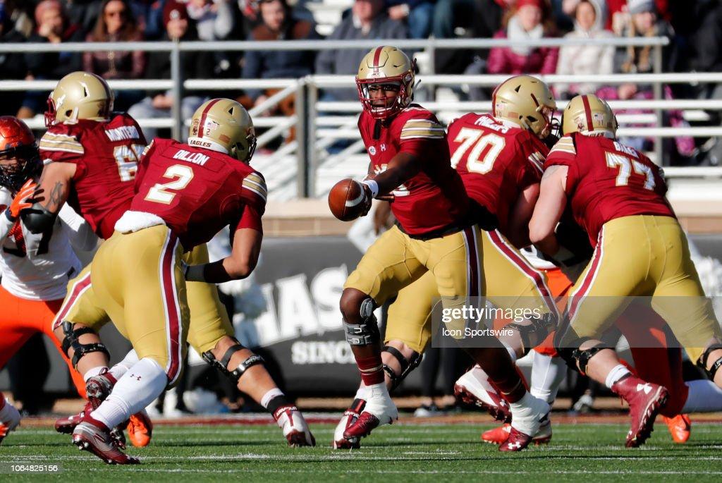 COLLEGE FOOTBALL: NOV 24 Syracuse at Boston College : News Photo