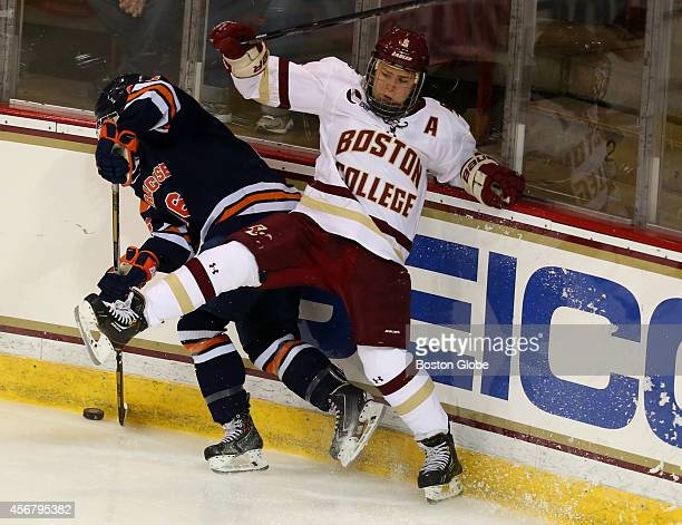 Boston College women's hockey player Alex Carpenter is pictured in action at a afternoon game against Syracuse University
