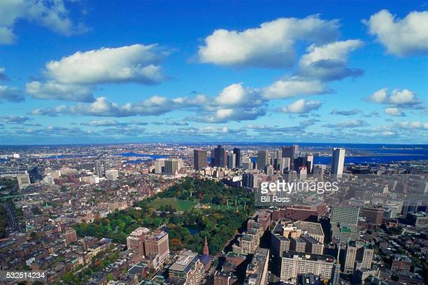 boston common and downtown boston - boston common stock pictures, royalty-free photos & images