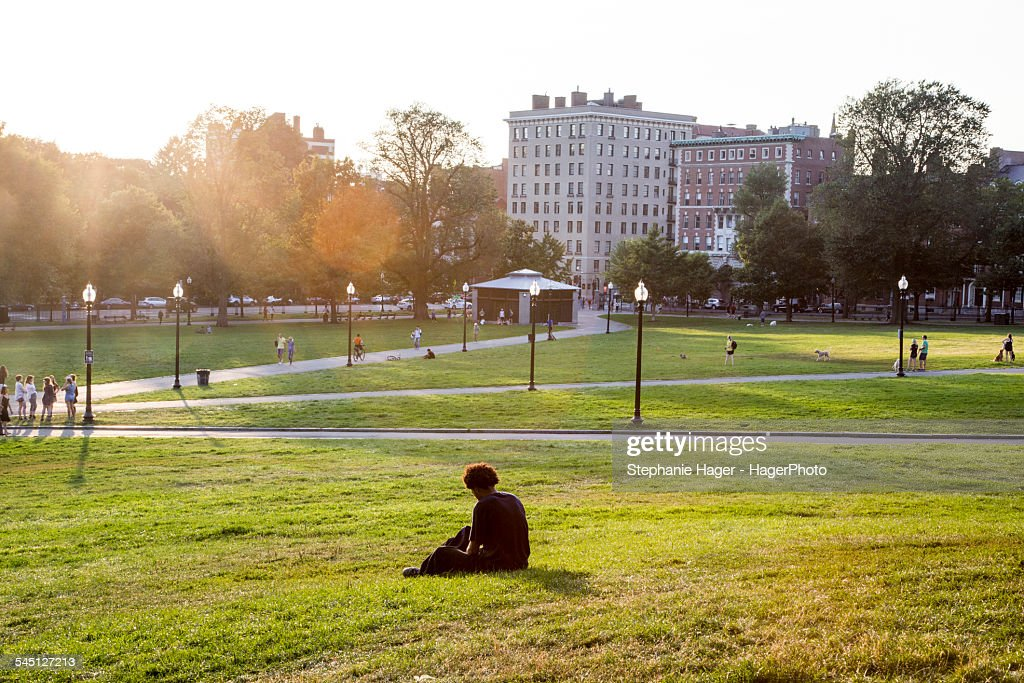 Boston Common and Public Gardens : Stock Photo