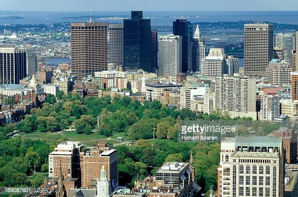 Boston Common and the business district, Boston,MA