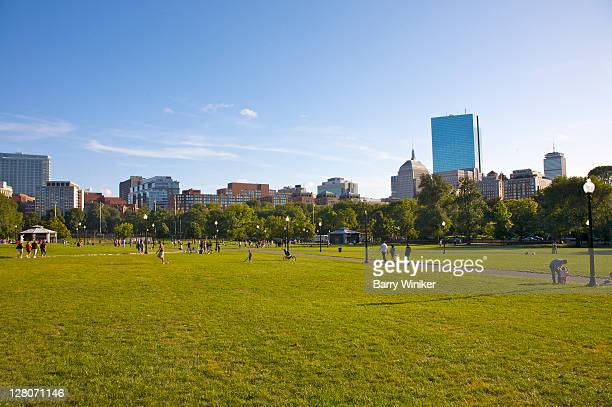 boston common, boston, massachusetts, usa - boston common stock pictures, royalty-free photos & images
