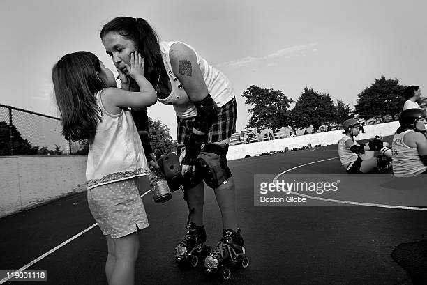 Boston Derby Dames Boston' s only all female roller derby league held a scrimmage at Joe Moakley Park for the public to see Fiveyearold Erin Leeper...