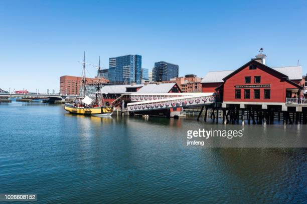 boston downtown - boston tea party stock photos and pictures