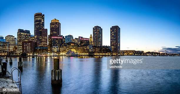 Boston Fan Pier Skyline (Panorama)