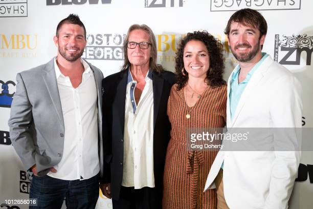 Boston George Producer Chris Chesson George Jung Boston George Producer Georgette Angelos and Boston George Director Clint Choate attend George...
