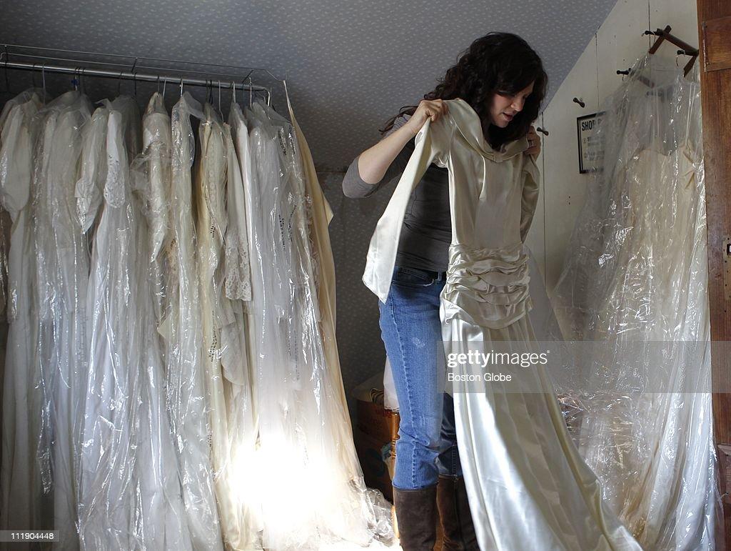 Wedding Dress Shopping : News Photo