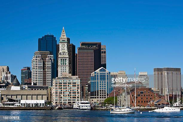 boston harbor - clock tower stock pictures, royalty-free photos & images