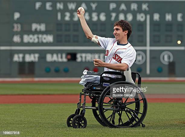 Boston Marathon bombing victim Jeff Bauman threw out a ceremonial first pitch before the game The Philadelphia Phillies visited the Boston Red Sox in...